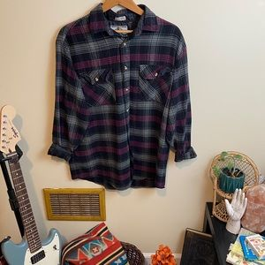 Vintage Northwest Territory Thick Plaid Flannel